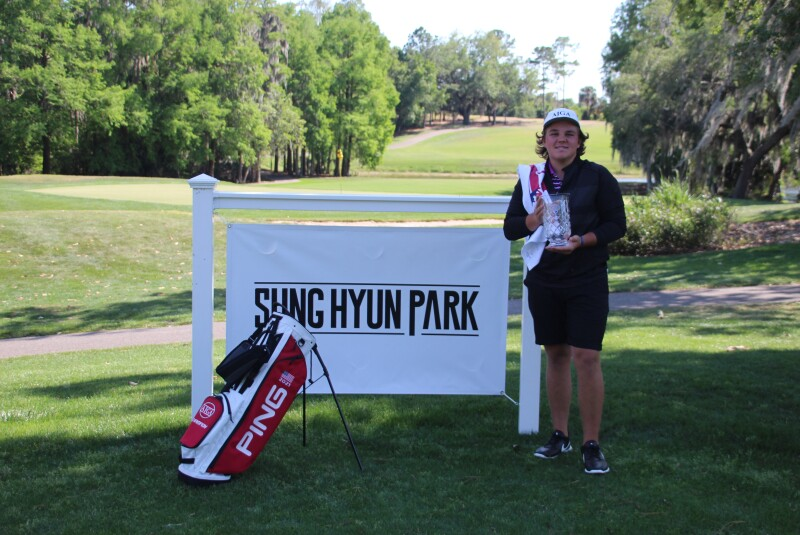 John Daly II ajga hat with banner and bag - Sung Hyun Park Junior Championship - 2021.JPG